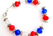 4th of July / Show your patriotism with the handcrafted jewelry, accessories. Wear yourself and gift to your friends and family. / by FashionJewelryForEveryone.com