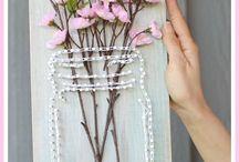 string art Flori