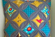 Cathedral Windows / Cathedral Windows quilts, table runners, cushions and other craft items