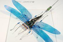 Circuit Board Dragonflies, Butterflies & other Bugs