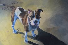 dog painting / acrylic paintings