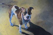 dog painting / acrylic paintings