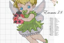 tinker bell cross stitch