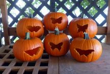 Butterfly-carved Pumpkins
