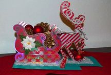 Festive Reindeer and Sleigh Paper Project