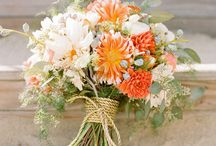 orange & peach bouquet