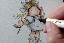 DISTRESS INK - Colorisation de Tampons