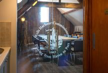 Wells Harbour Commissioners / West Norfolk Glass created an impressive bespoke glazing solution for the entrance to Wells Harbour Office's boardroom.