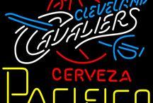 Cerveza Pacifico with NBA Neon Signs