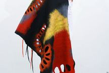Felted scarf / #felted #nunofelted #fashion #womenFashion