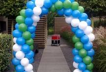 Ballondecoratie - ballonnenbogen / diverse ballonnenbogen (kleurcombinaties, afwerkingen, patronen, afmetingen, etc.) zoals ik deze eerder heb geleverd aan klanten