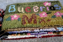 Rug Hooking Stuffed, Foot Stools, ect. / by Sylvia Gauthier