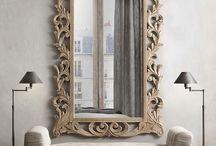 Wooden mirror / Lovely baroque mirror