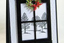 Cards...Christmas...Windows & Doors