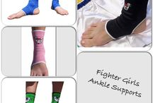 Fighter Girls Shin Guards & Ankle Supports / Shop fightergirls.com. The 1st and original in women's MMA. Best quality and dedicated to the female warrior.  Http://www.fightergirls.com  #fightergirls #fightergirlsshop #wmma #womensmma  #mmagloves #fightwear #training #sportswear #bodycombat #kickboxing #sparring #handwraps #womenshinguards #anklesupports