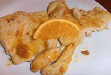 scaloppine zenzero arancia