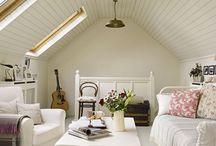 wood ceiling attic