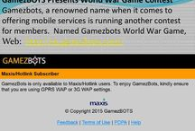 Gamezbots  Mobile gaming community platform / Gamezbots, a renowned name when it comes to offering mobile services is running another contest for members.  Named Gamezbots World War Game,