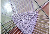 Pletení z papíru-vyplétaná dna