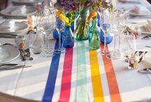 Déco mariage multicolore