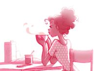 Girls in cafés n coffee things!