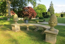 Huntsham Court's Acorn Stone Bench - perfect for photos / There are lots of great spots for photos in our grounds - but here is our huge Acorn stone bench - photo-ed from any angle you have great backdrops to your family portraits.