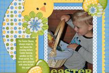 scrapbook pages-easter