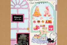 French Patisserie Inspiration / Inspiration for a Parisian Patisserie theme.