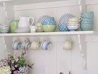 Pretty Kitchen Shelves