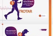 Caminhada e exercícios