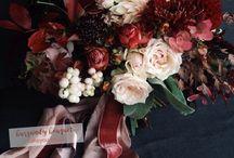 dark burgundy wedding
