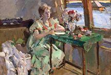 KONSTANTIN KOROVIN / KONSTANTIN ALEKSEYEVICH KOROVIN (23 November 23 [O.S. December 5] 1861 – September 11, 1939) was a leading Russian Impressionist painter.