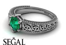 Emerald Engagement Ring / Emerald Engagement Ring