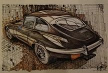My pictures / Classic car drawings