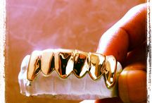 Classic Solid Gold Slugs / Going back to the classics?  Removable dental gold caps solid gold slugs and fronts.. www.ChiGrillz.com