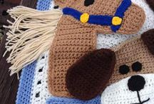 Afghan crochet dog and horse