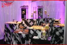 Modern/Contemporary  / Linens used for modern and sleek food displays and tablescapes