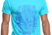 Filthy Dripped Men Always Watching T-Shirt Blue Large