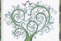 wedding tree cross stitch