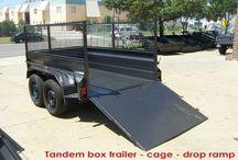 Tandem trailers