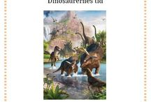 Opgaveark med dinosaurer