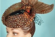 Bird Hats / Hats with birds and wings.