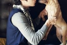 JUNG ILWOO with his PUPPY