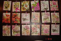 mini canvas 8X10 DECOUPAGE ART