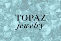 Topaz Jewelry / The crystal blue color of Topaz makes it a favorite for many. It is also the birthstone for those born in December. Shop favorited Topaz jewelry at Ice.com / by Ice.com