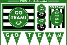 Football and Sports Party Ideas / Football and Sports Party Ideas! Great ideas for party cakes, decorations, printables,  food and more!