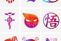 Аниме символы