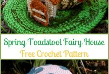 Crochet fairy house