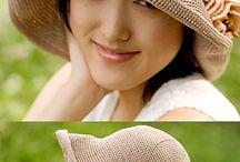 Вязаные шапки, шарфы, шали