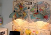 World globes and maps